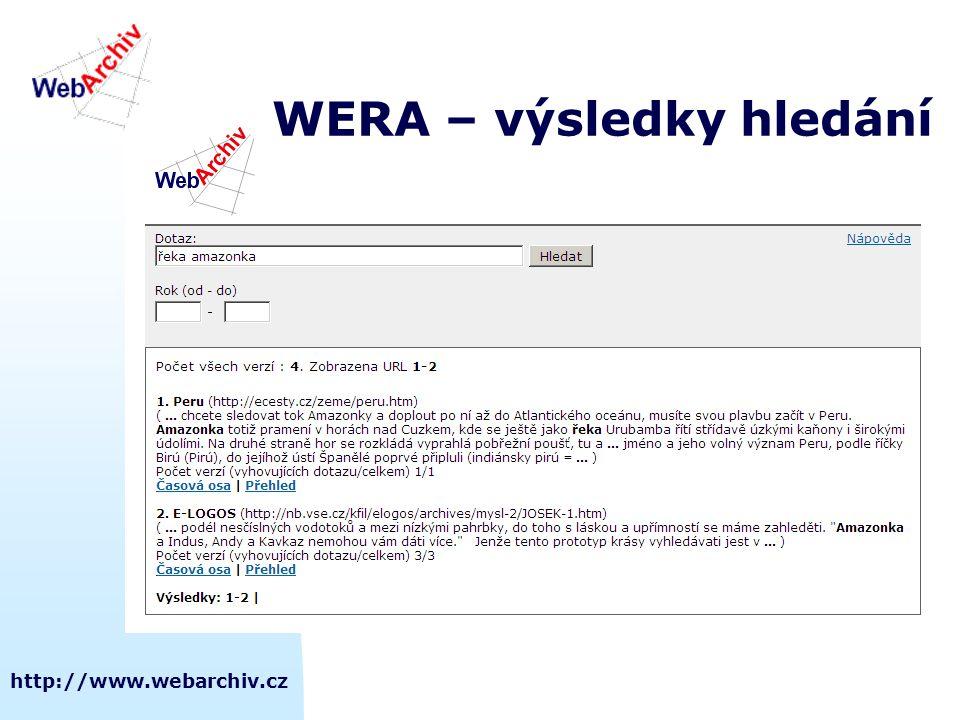 WERA – výsledky hledání