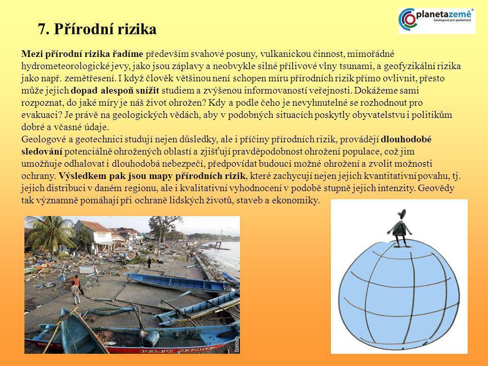 7. Přírodní rizika