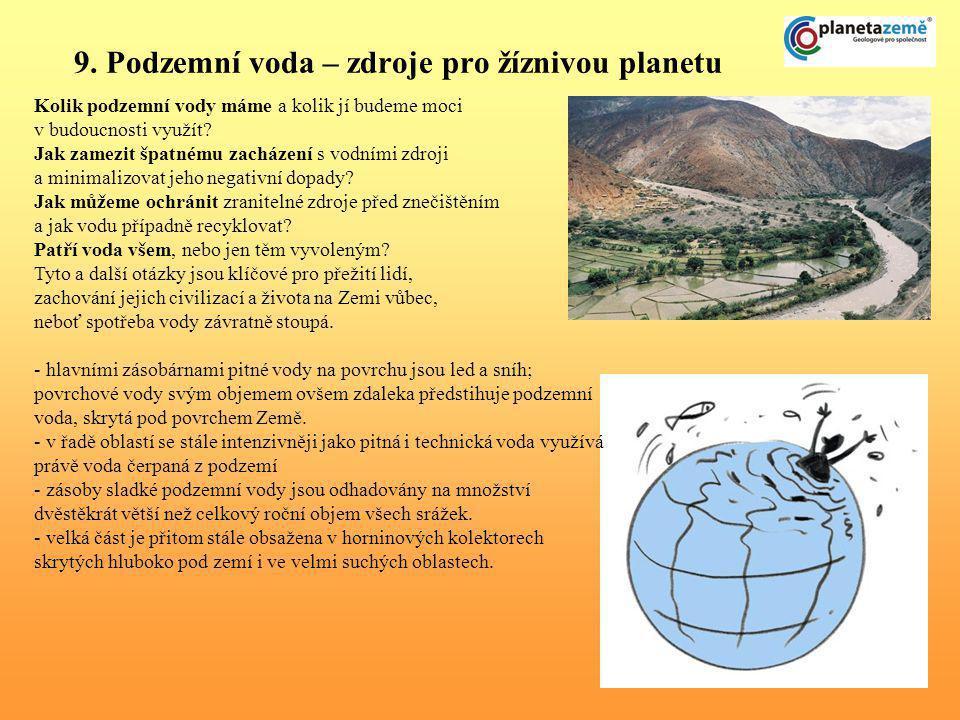 9. Podzemní voda – zdroje pro žíznivou planetu