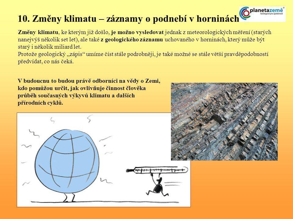 10. Změny klimatu – záznamy o podnebí v horninách