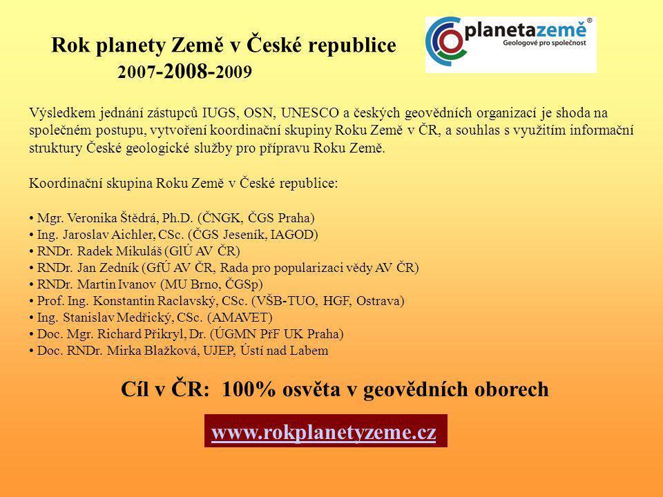 Rok planety Země v České republice 2007-2008-2009