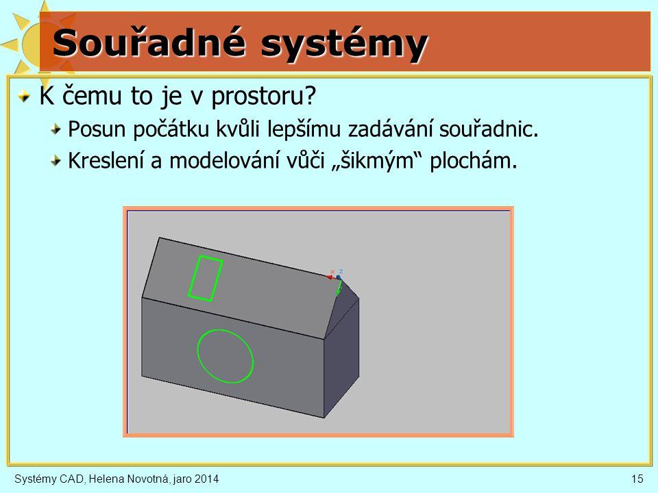Souřadné systémy K čemu to je v prostoru