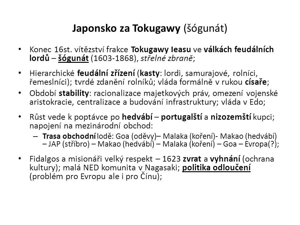 Japonsko za Tokugawy (šógunát)