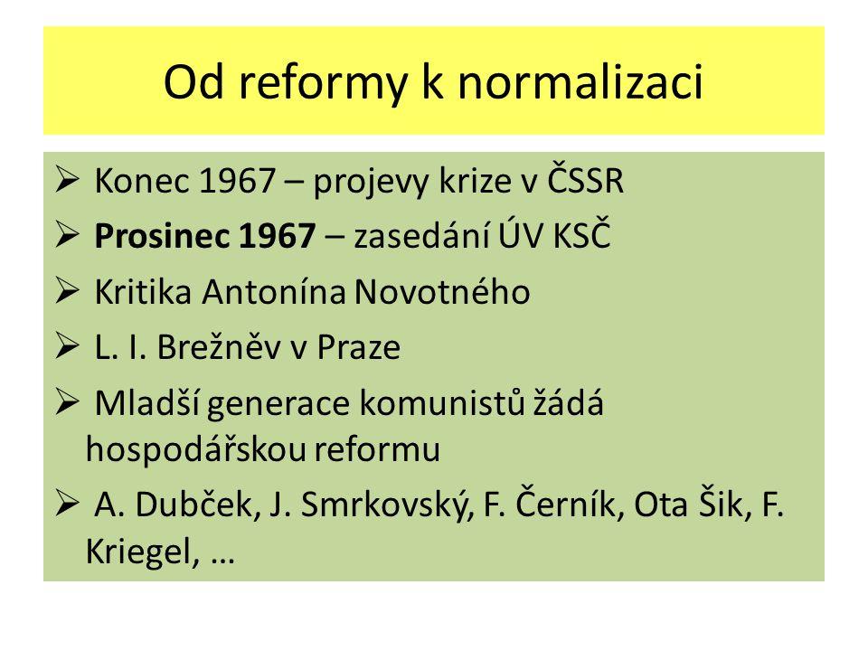 Od reformy k normalizaci