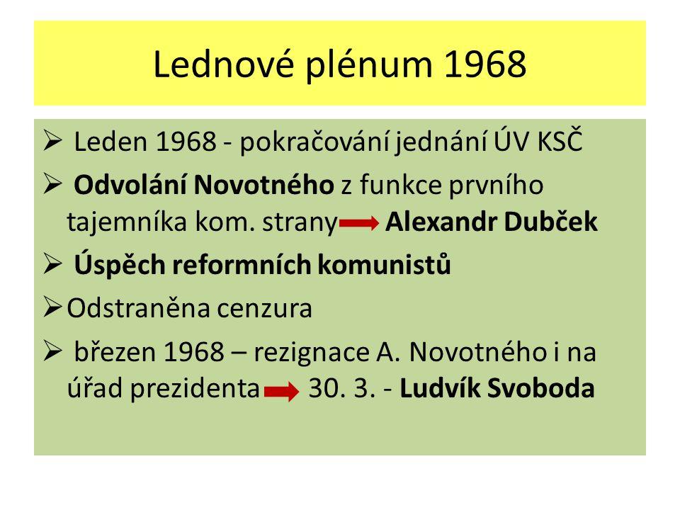 Lednové plénum 1968 Leden 1968 - pokračování jednání ÚV KSČ