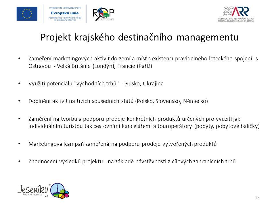 Projekt krajského destinačního managementu