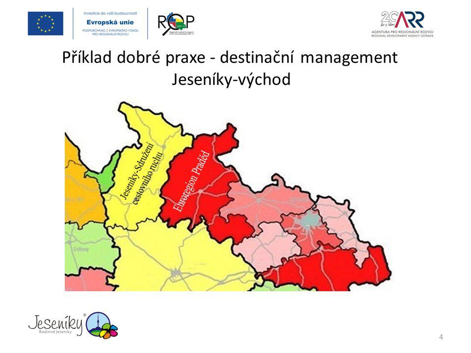 Příklad dobré praxe - destinační management Jeseníky-východ