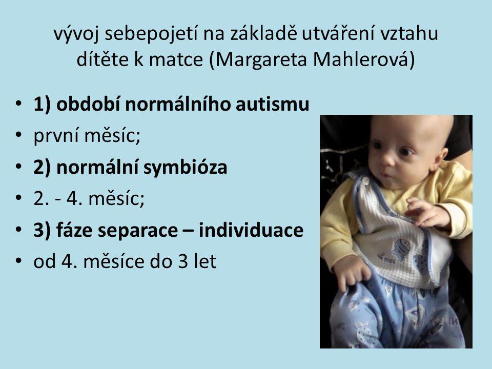 vývoj sebepojetí na základě utváření vztahu dítěte k matce (Margareta Mahlerová)
