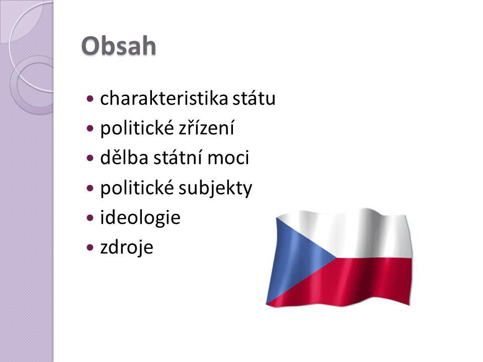 Obsah charakteristika státu politické zřízení dělba státní moci