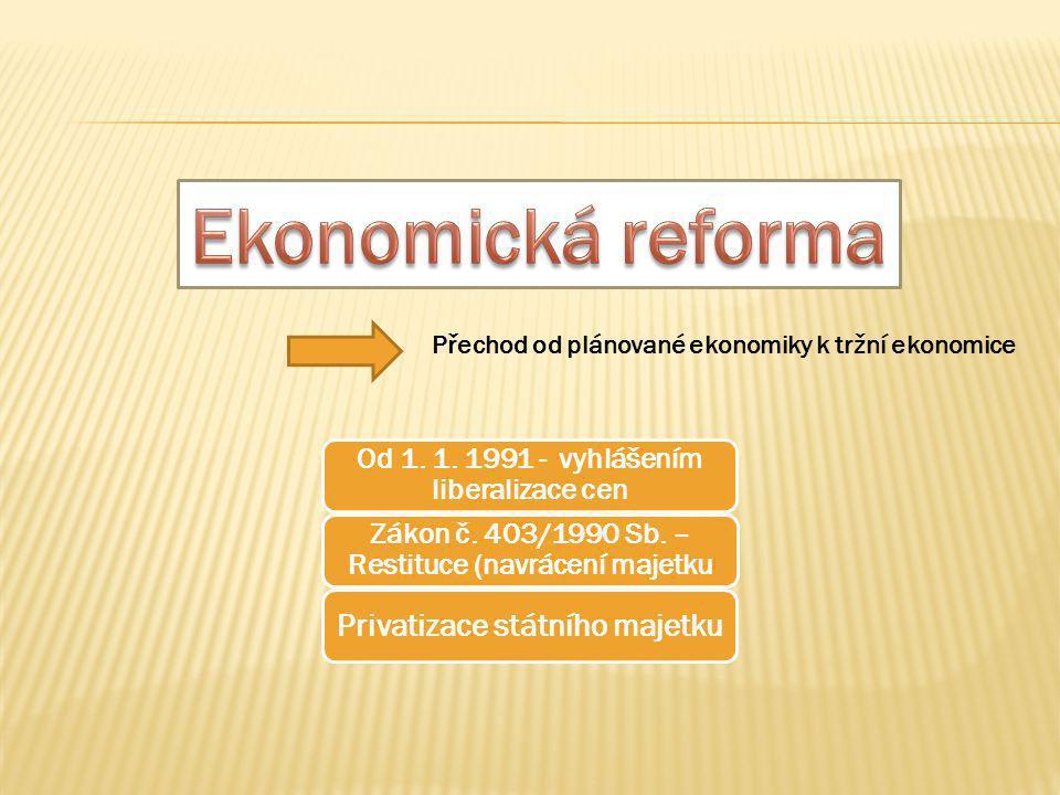 Ekonomická reforma Privatizace státního majetku