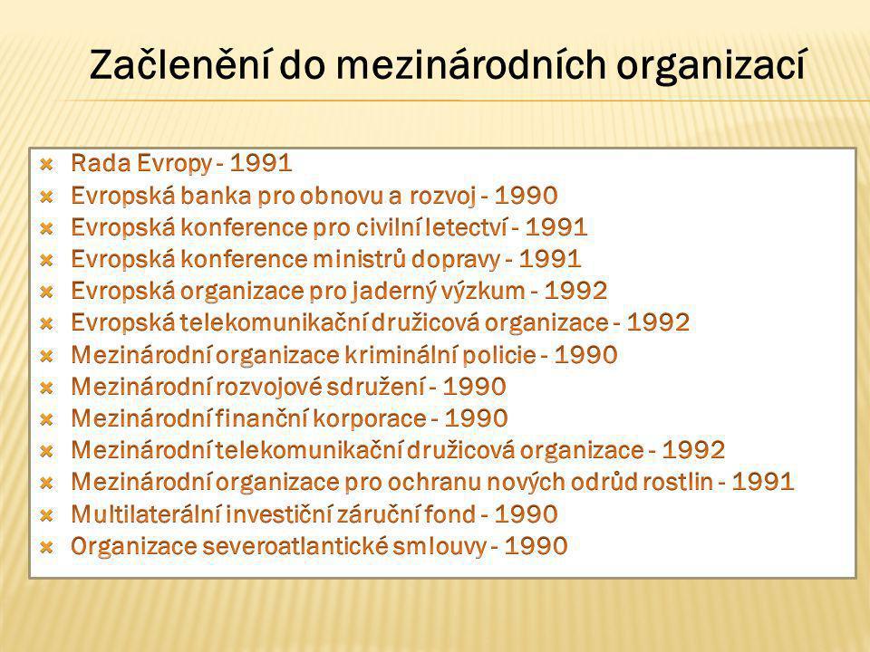 Začlenění do mezinárodních organizací