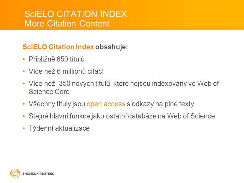 SciELO CITATION INDEX More Citation Content