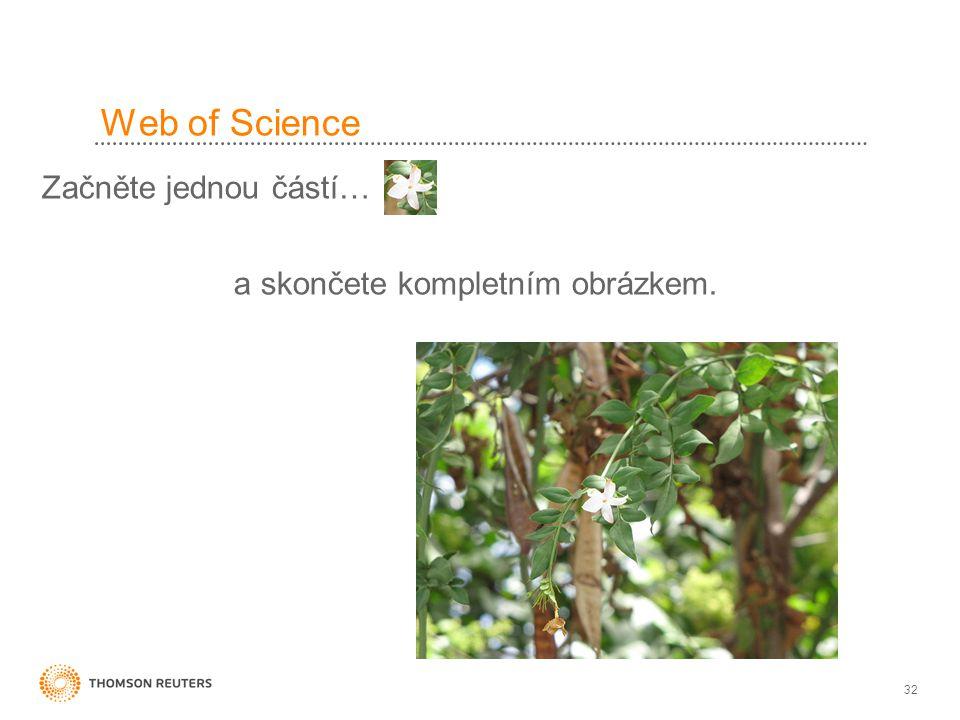 Web of Science Začněte jednou částí… a skončete kompletním obrázkem.