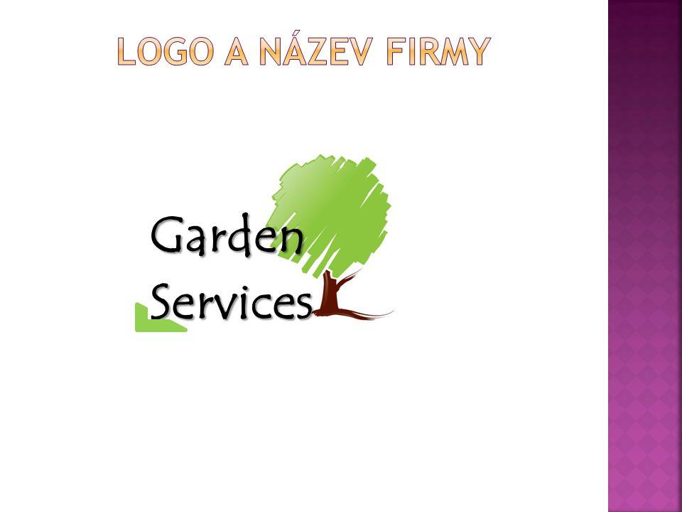 Logo a název firmy Garden Services