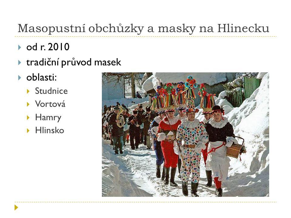 Masopustní obchůzky a masky na Hlinecku