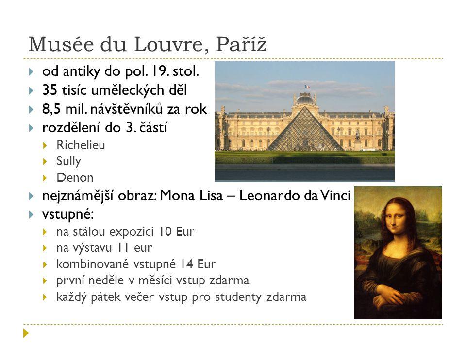 Musée du Louvre, Paříž od antiky do pol. 19. stol.