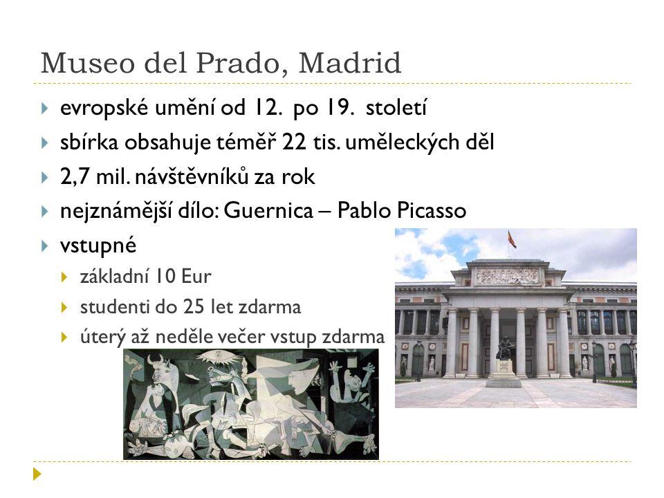 Museo del Prado, Madrid evropské umění od 12. po 19. století