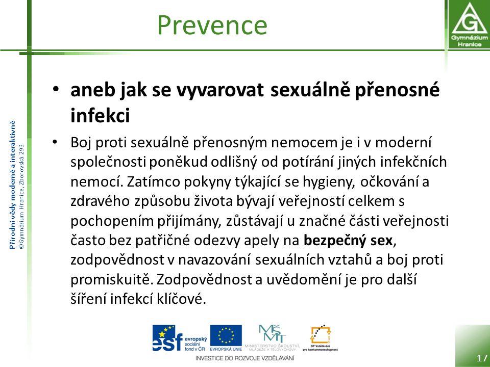 Prevence aneb jak se vyvarovat sexuálně přenosné infekci