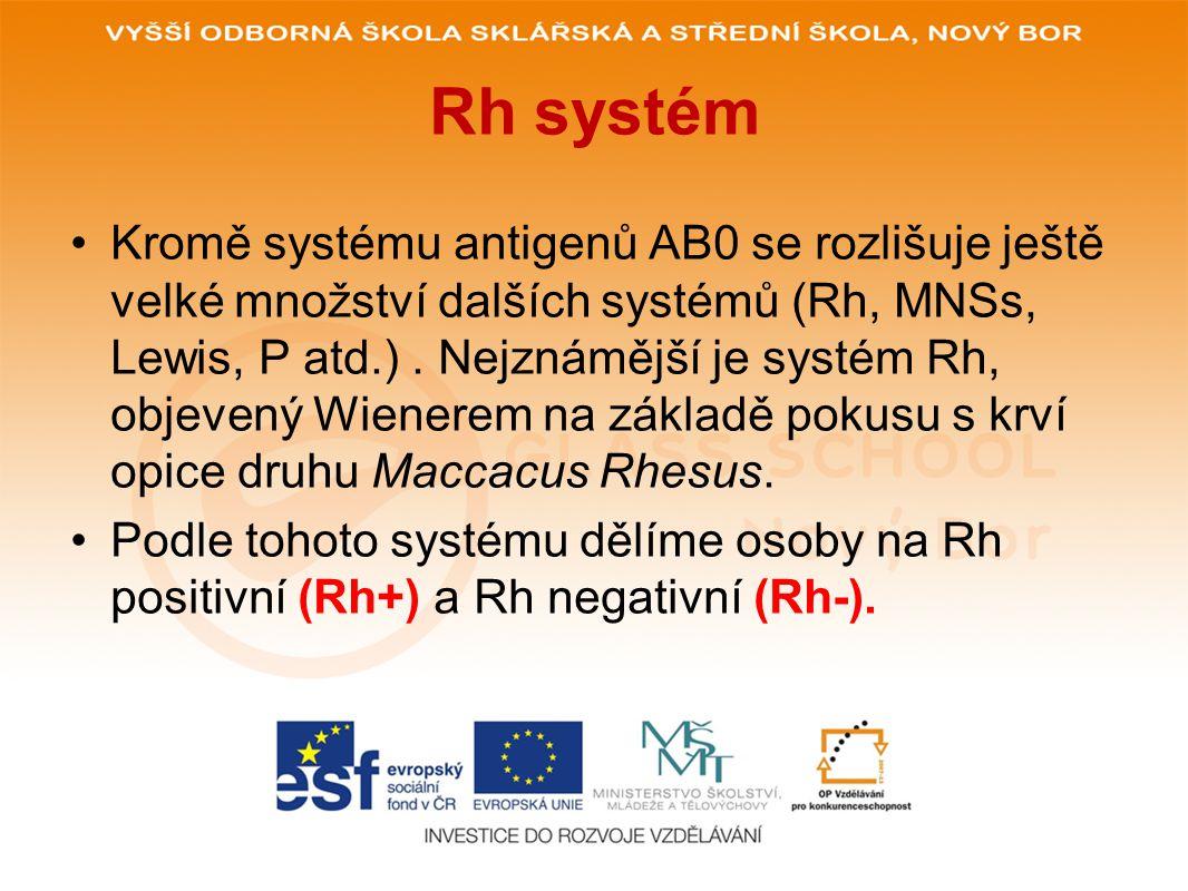 Rh systém
