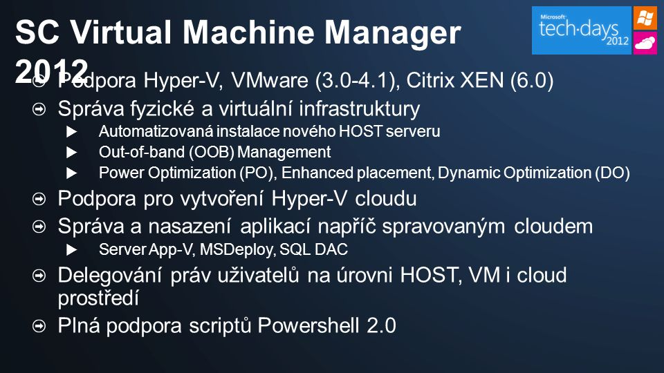 SC Virtual Machine Manager 2012