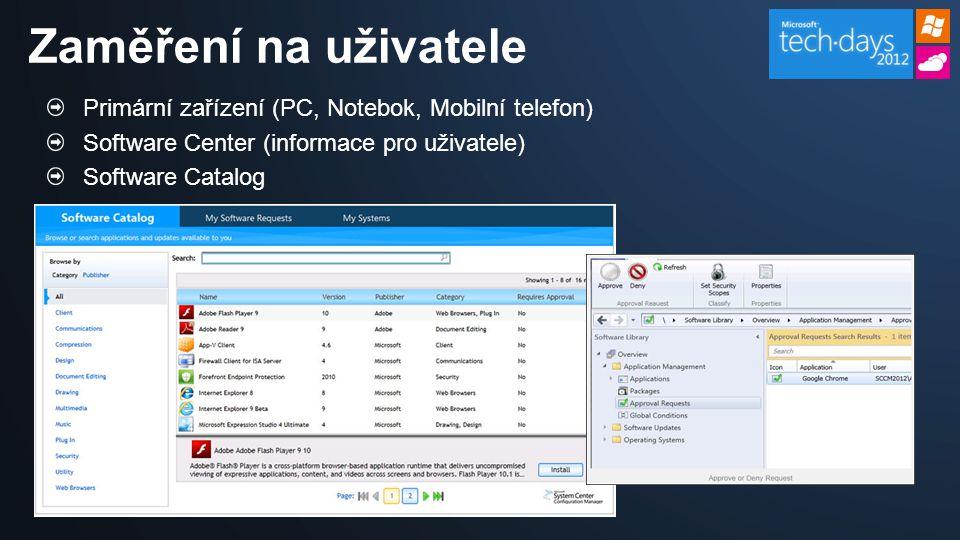 Zaměření na uživatele Primární zařízení (PC, Notebok, Mobilní telefon)