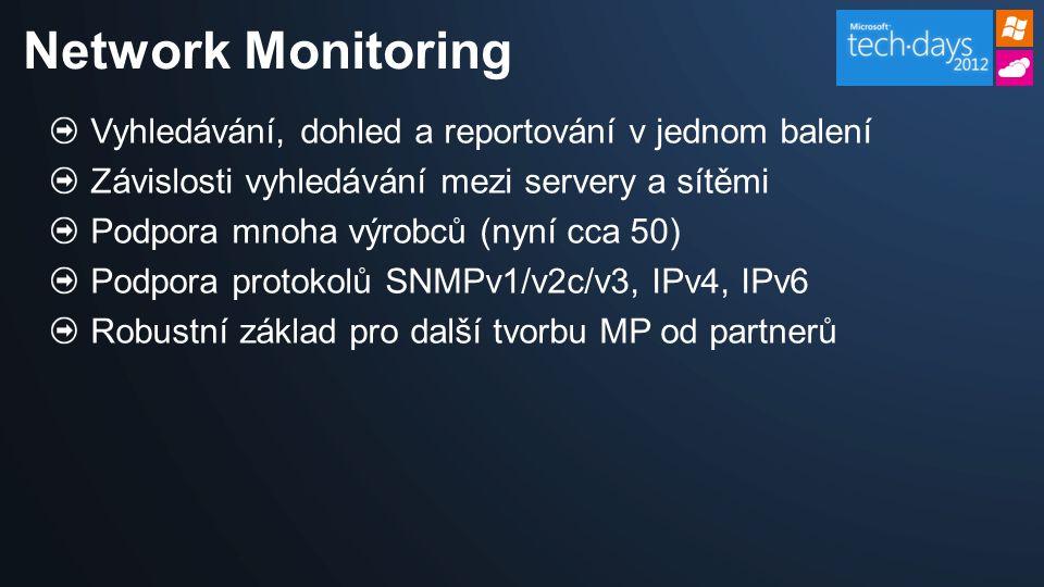 Network Monitoring Vyhledávání, dohled a reportování v jednom balení