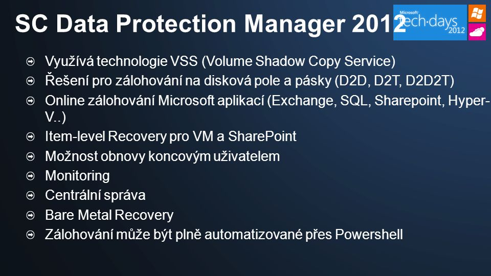 SC Data Protection Manager 2012