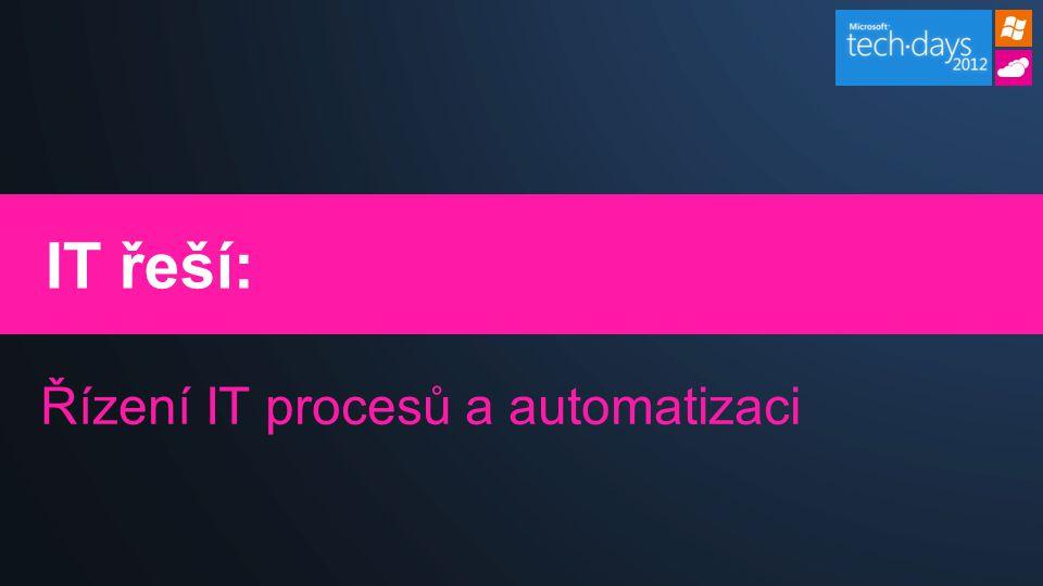 IT řeší: Řízení IT procesů a automatizaci