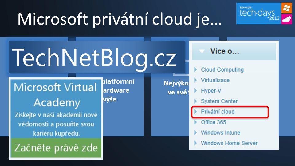 Microsoft privátní cloud je…