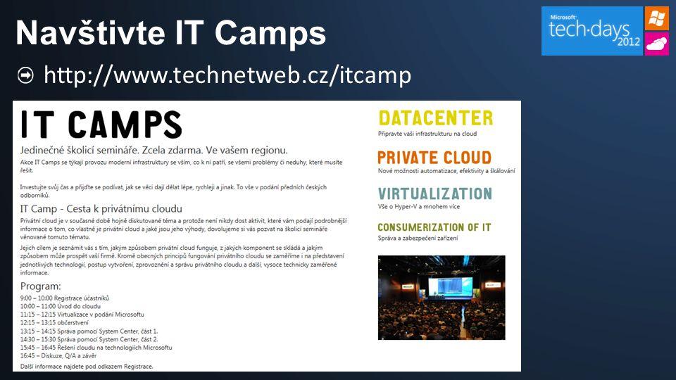 Navštivte IT Camps http://www.technetweb.cz/itcamp