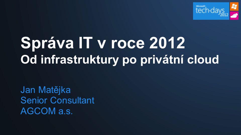 Správa IT v roce 2012 Od infrastruktury po privátní cloud