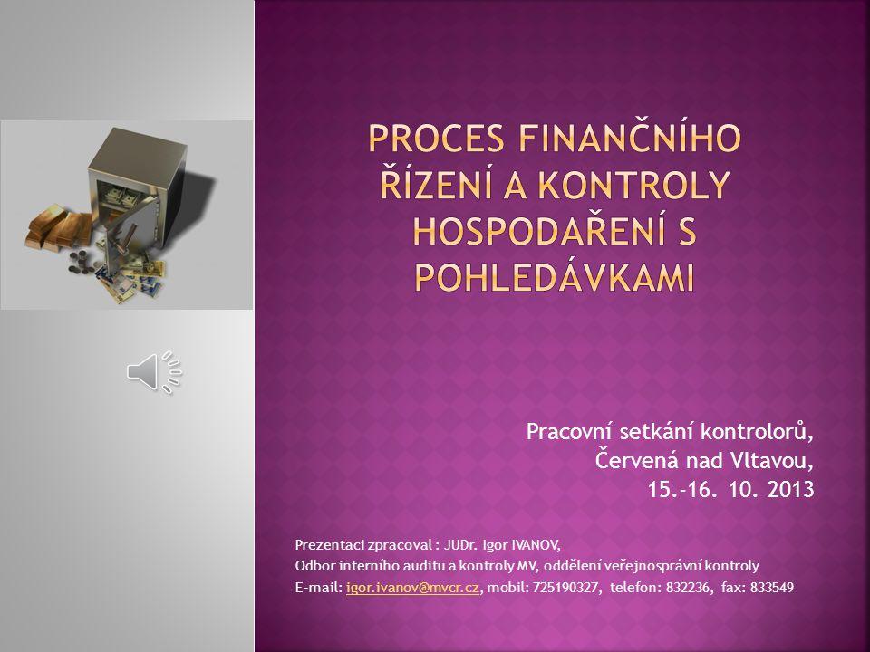 Proces finančního řízení A KONTROLY HOSPODAŘENÍ s pohledávkami