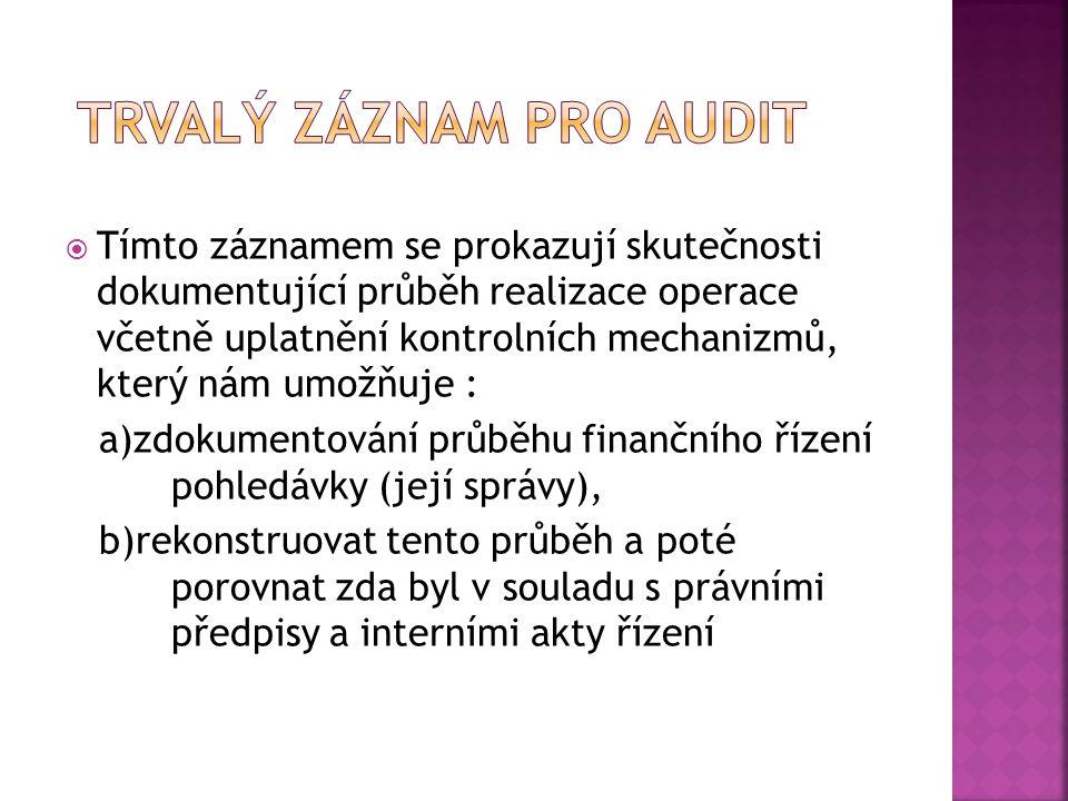 Trvalý záznam pro audit