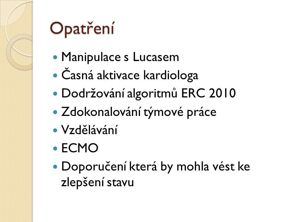Opatření Manipulace s Lucasem Časná aktivace kardiologa
