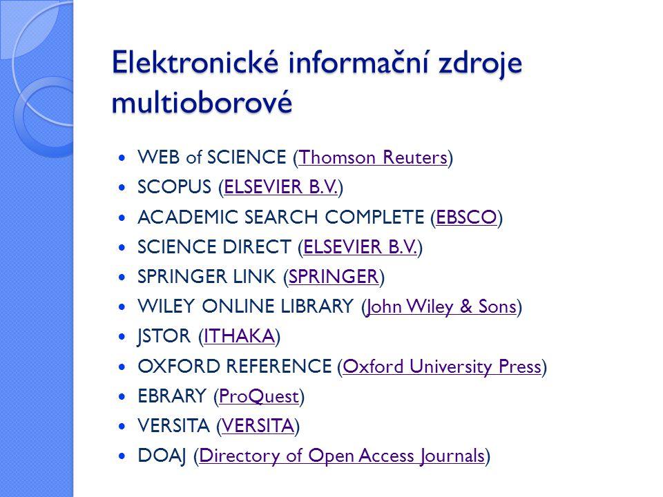 Elektronické informační zdroje multioborové