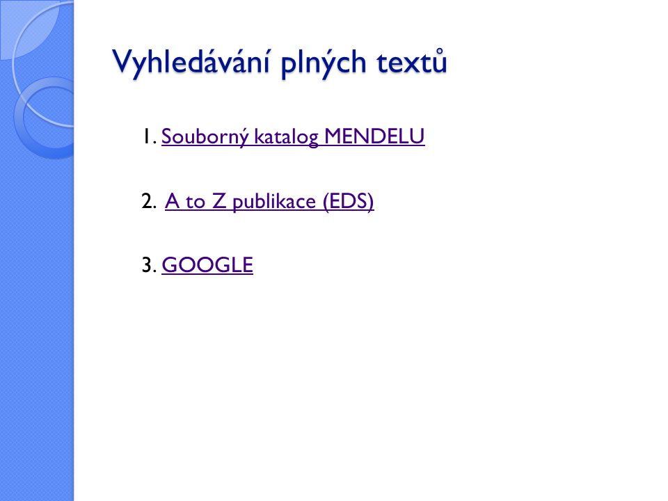 Vyhledávání plných textů
