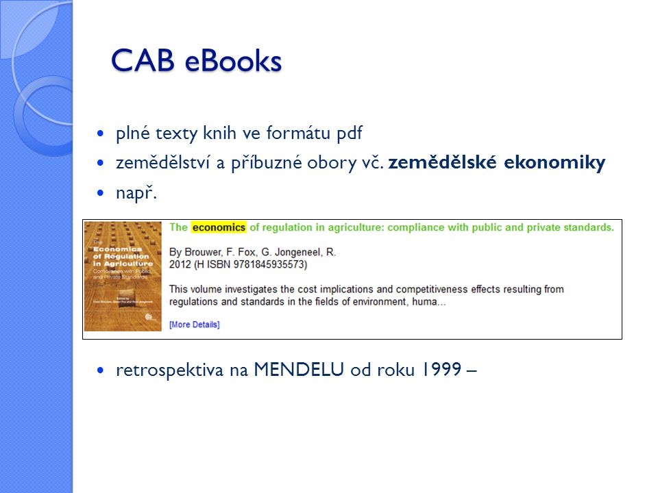 CAB eBooks plné texty knih ve formátu pdf