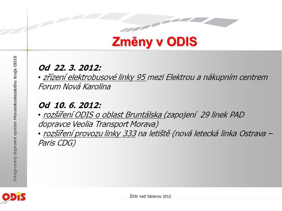 Změny v ODIS Od 22. 3. 2012: zřízení elektrobusové linky 95 mezi Elektrou a nákupním centrem Forum Nová Karolina.