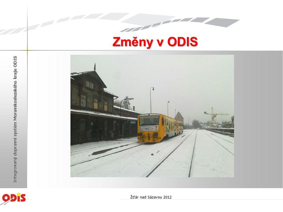 Změny v ODIS Integrovaný dopravní systém Moravskoslezského kraje ODIS