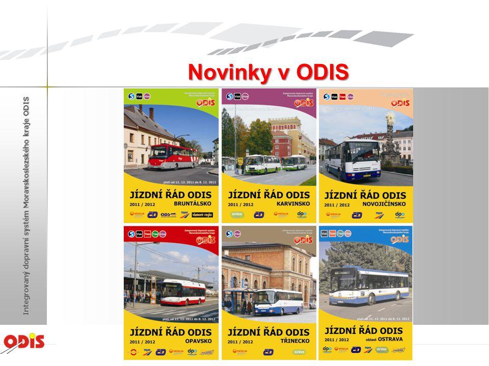 Novinky v ODIS Integrovaný dopravní systém Moravskoslezského kraje ODIS Žďár nad Sázavou 2012