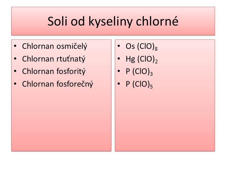 Soli od kyseliny chlorné