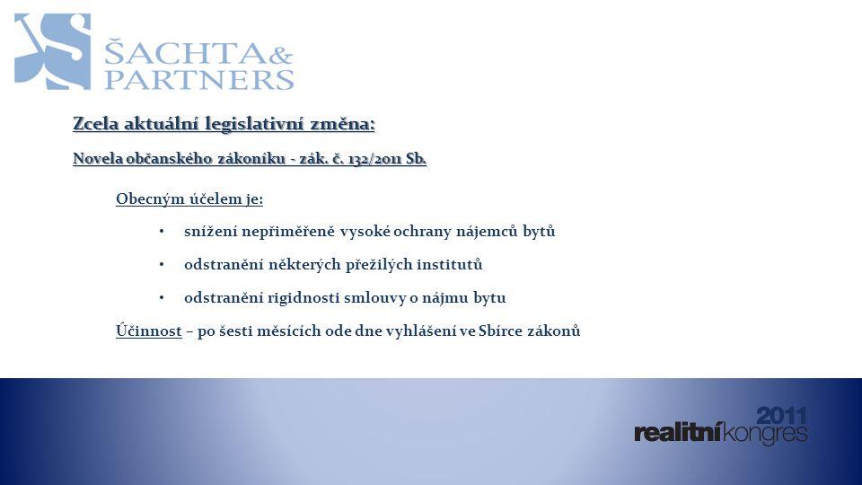 Zcela aktuální legislativní změna: