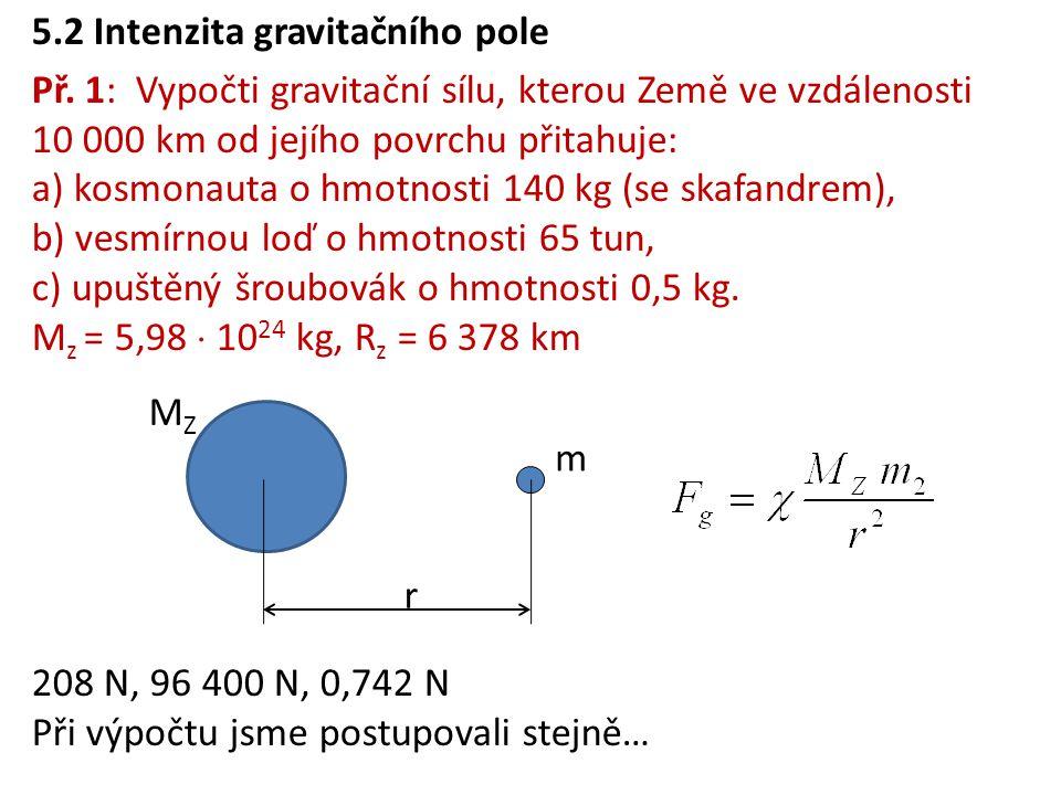 5.2 Intenzita gravitačního pole