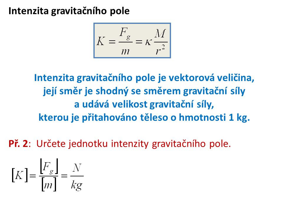 Intenzita gravitačního pole