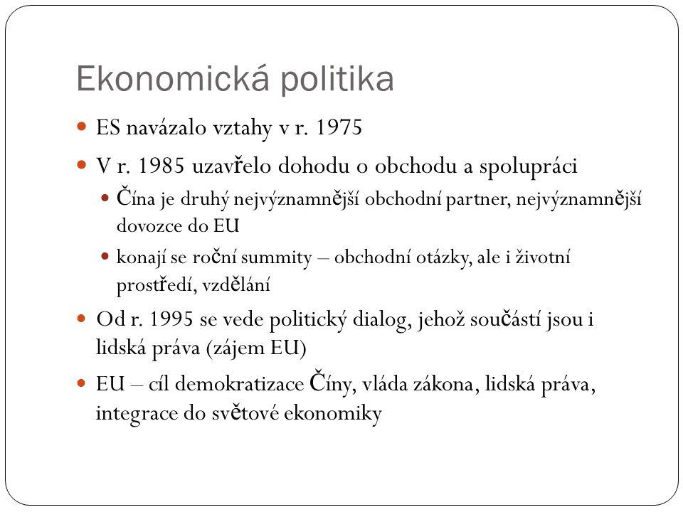Ekonomická politika ES navázalo vztahy v r. 1975