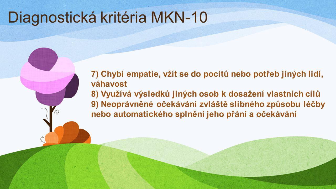 Diagnostická kritéria MKN-10