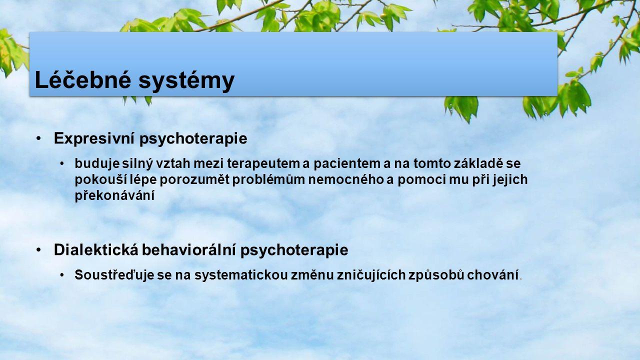Léčebné systémy Expresivní psychoterapie