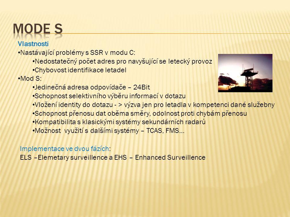 Mode S Vlastnosti Nastávající problémy s SSR v modu C: