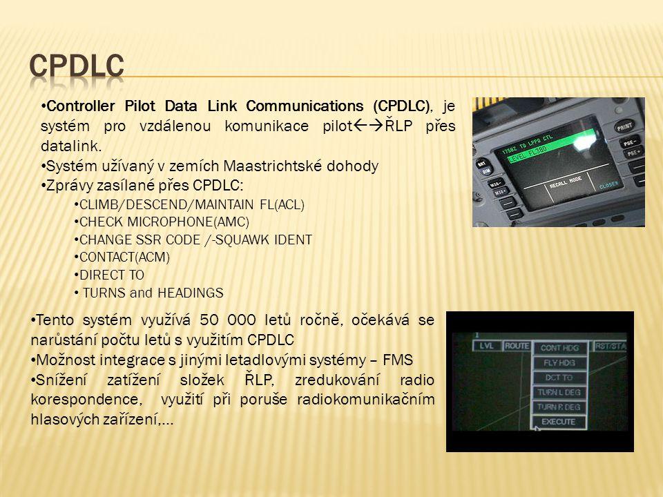 CPDLC Controller Pilot Data Link Communications (CPDLC), je systém pro vzdálenou komunikace pilotŘLP přes datalink.