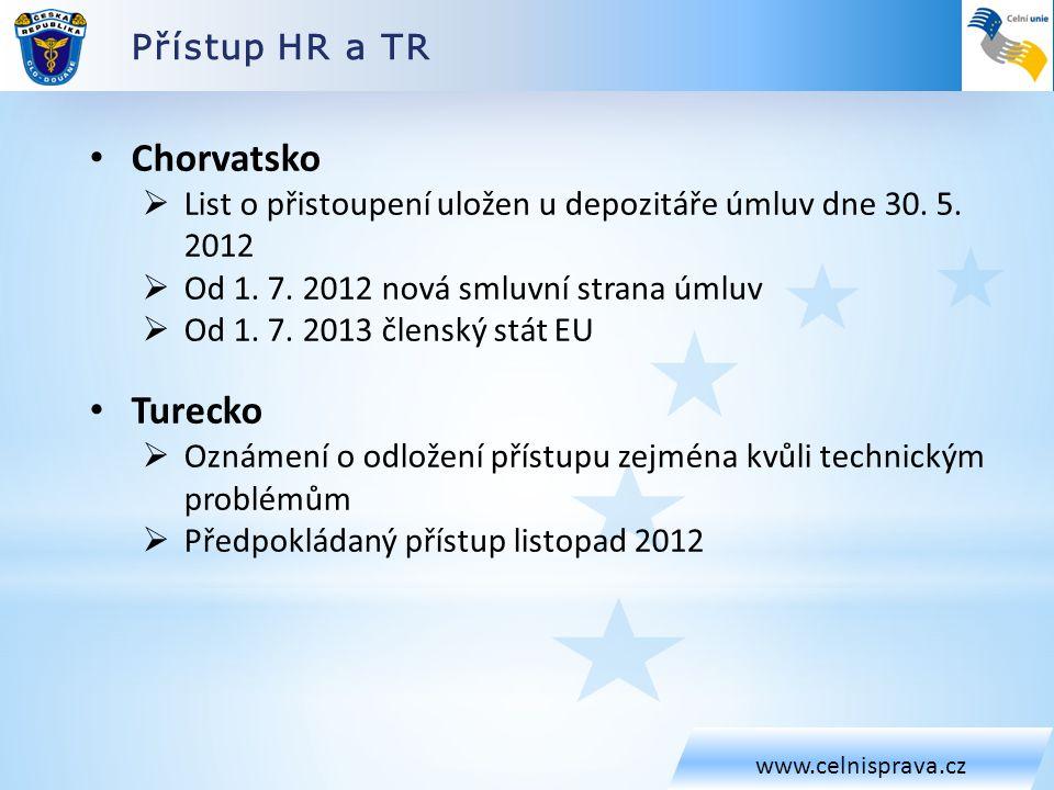 Chorvatsko Turecko Přístup HR a TR